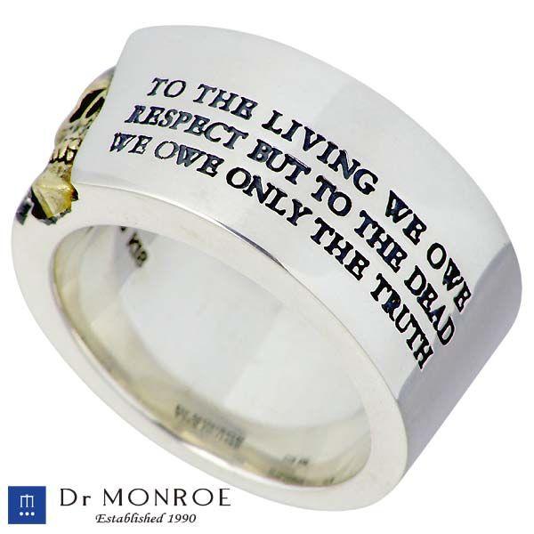 Sies Rosso | Rakuten Global Market: Dr MONROE (FC-114KSE-SV) silver ring /K18YG/18 gold Combi / men's / skull / message /SV925/Silver / ring / 13-30,