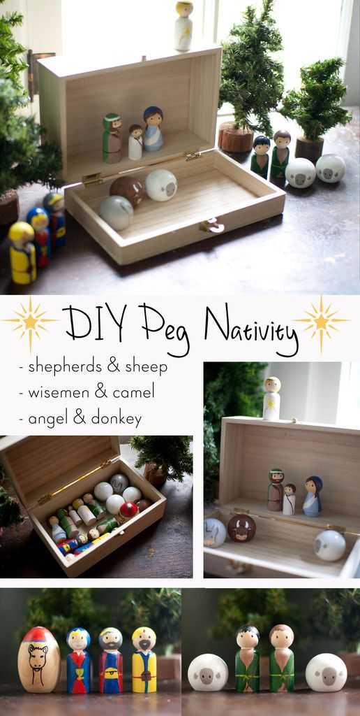 Photo of Wooden Peg Nativity {Chrsitmas Crafting Party}