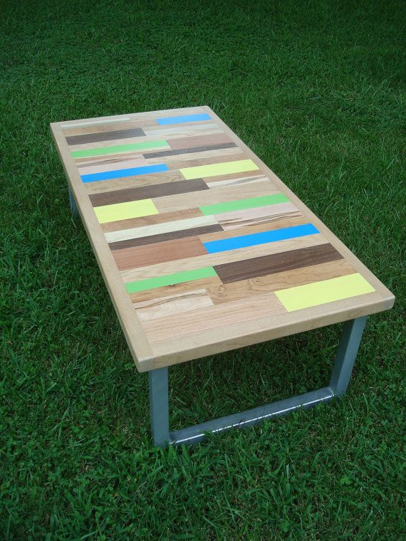 Painted Table Coffee Table Reclaimed Wood Table Reclaimed Wood