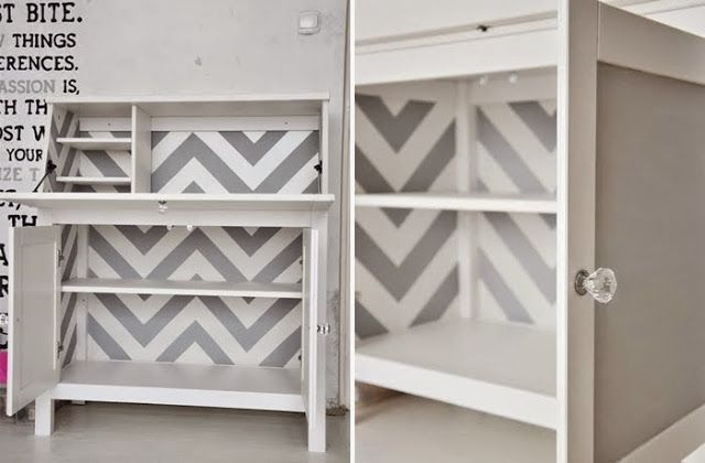 Chevron and chalkboard on hemnes bureau home craftitude