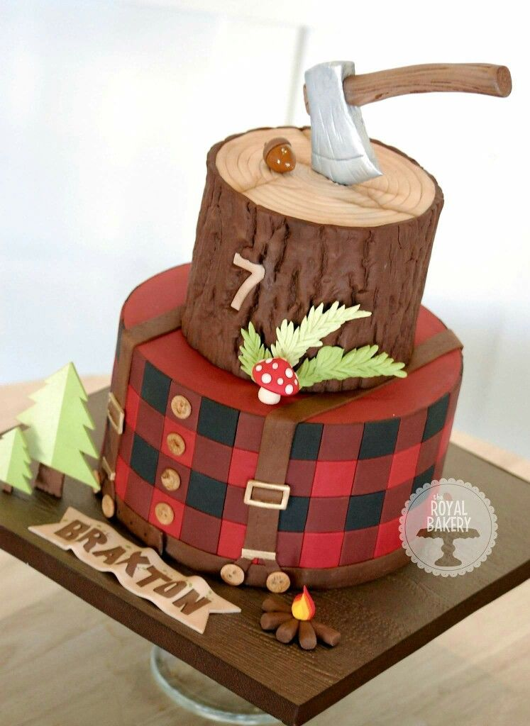 Lumberjack Cake Lumberjack Cake Lumberjack Birthday Party