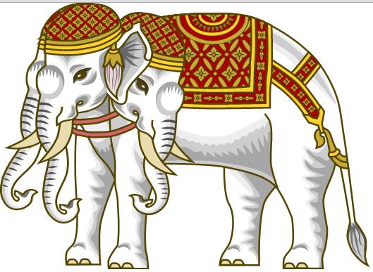 Airavata The King God Of Elephants Mythological Creatures Elephant Illustration Mythology