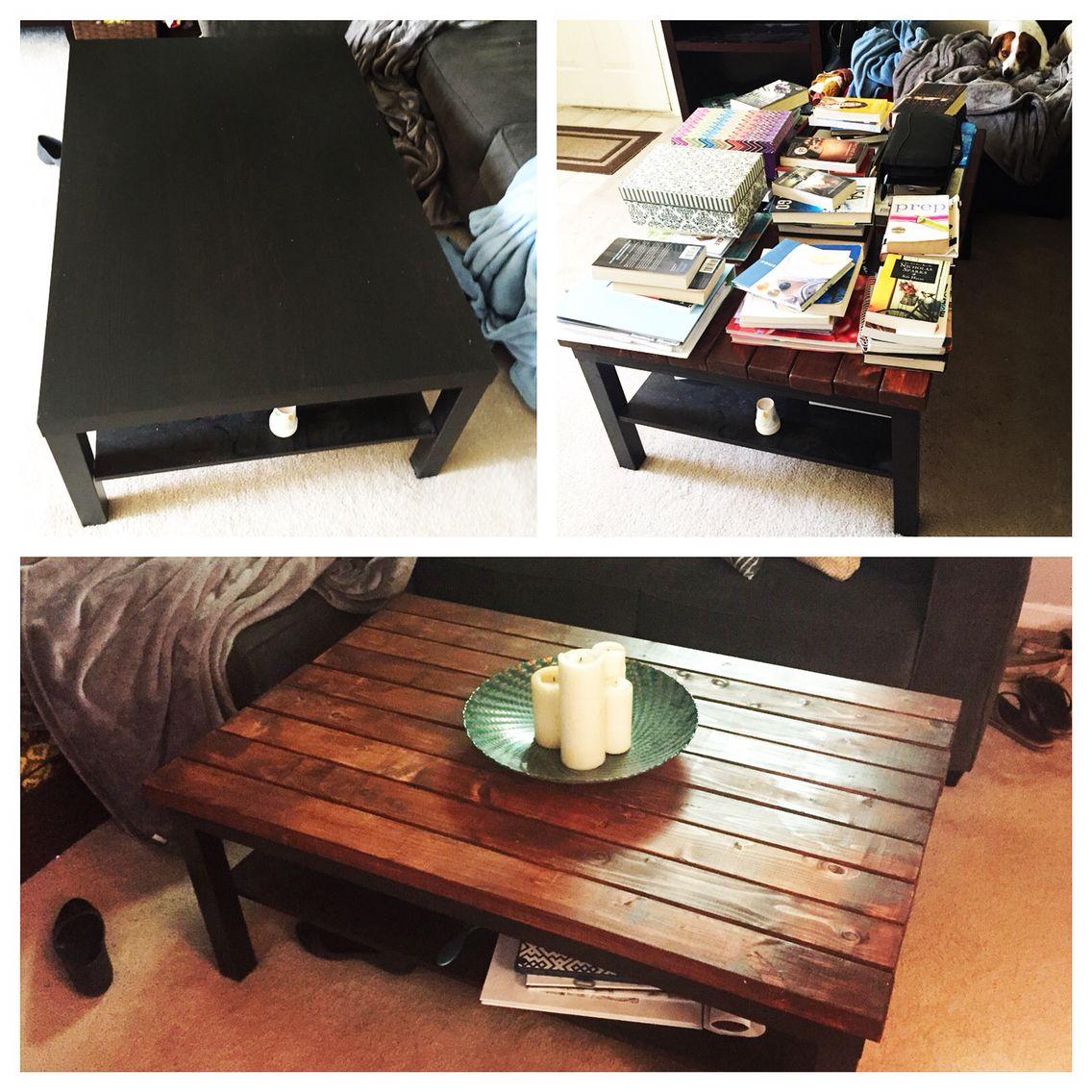 - DIY Ikea Coffee Table Transformation To Rustic Coffee Table