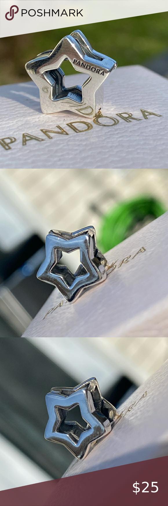Pandora Reflexions Sleek Star Clip Charm Authentic Pandora ...
