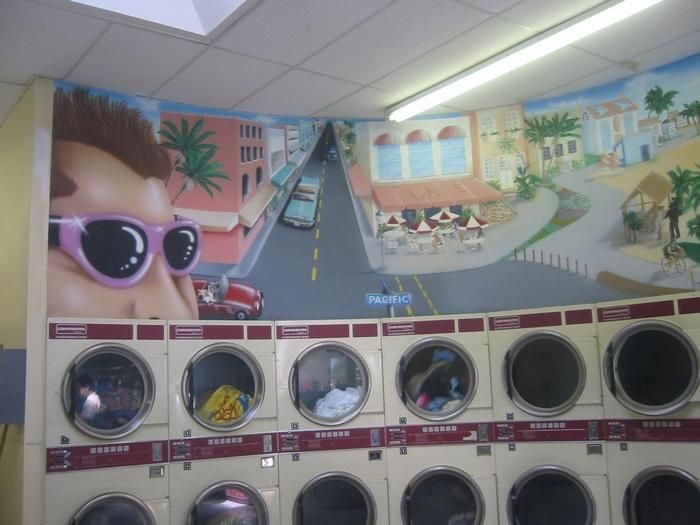 Venice Beach Wash Coin Laundry Ca United States Cool Murals
