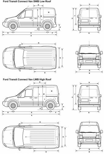 Ford Transit Connect Dimensions 1 Vandwelling Ford Transit