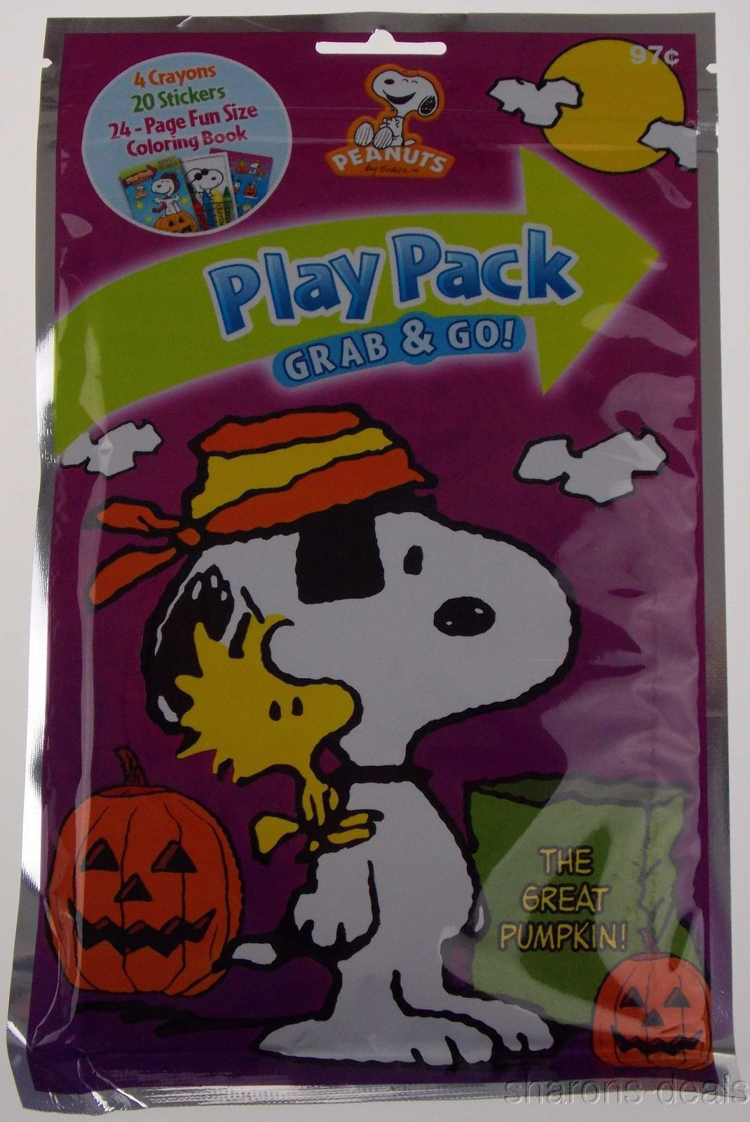 Snoopy Peanuts Play Pack Grab Go Set 12 Coloring Book Crayons ...