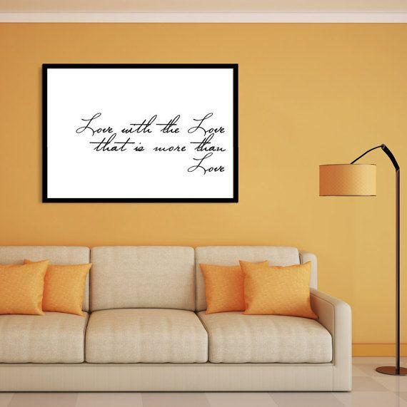 Love quote print, Valentines day print, Bedroom love print, Love ...