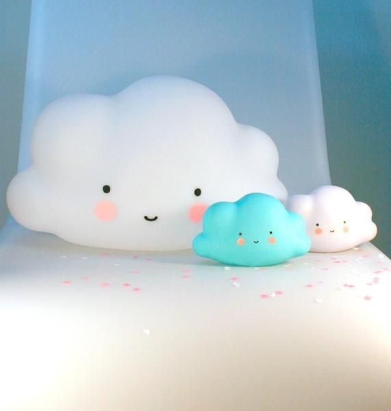 Have you ever seen a light cuter than this A Little Lovely Company white mini cloud night light?! It's child and eco-friendly BPA and lead-free PVC, plus it doe