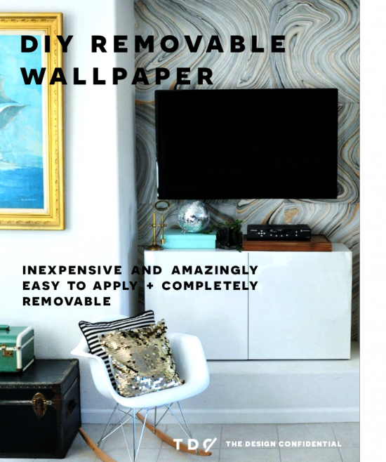 Diy home decor how to make your own removable wallpaper for Design your own mural wallpaper