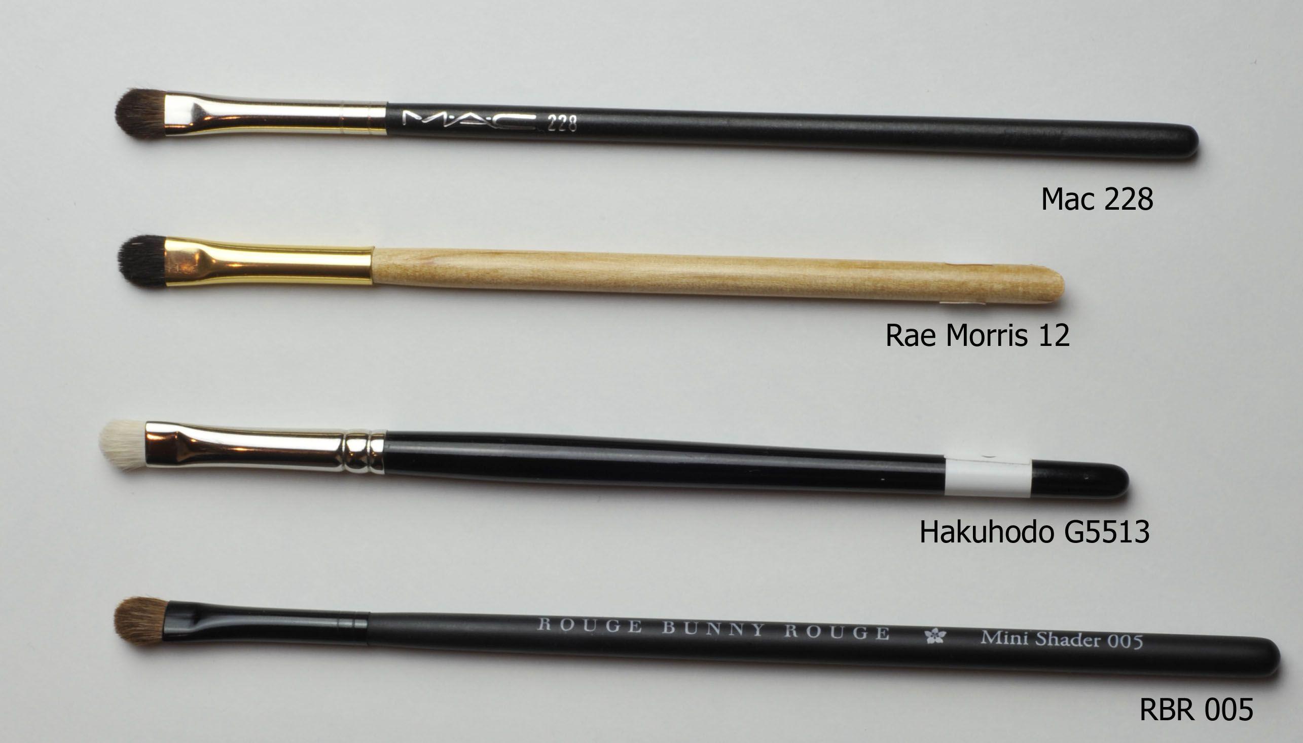 minishaders mac 228, Hakuhodo G5513 Eye brushes, Bling