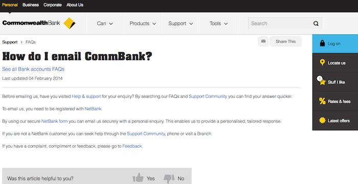 Commonwealth Bank email   Email Services   Pinterest ...