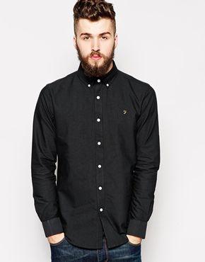 Farah Vintage Oxford Shirt in Regular Fit | Shirts | Pinterest ...