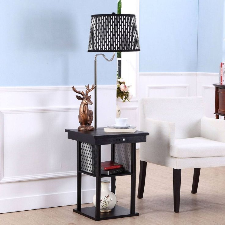 LED Floor Lamp Swing Arm Lamp Side table lamps, Floor