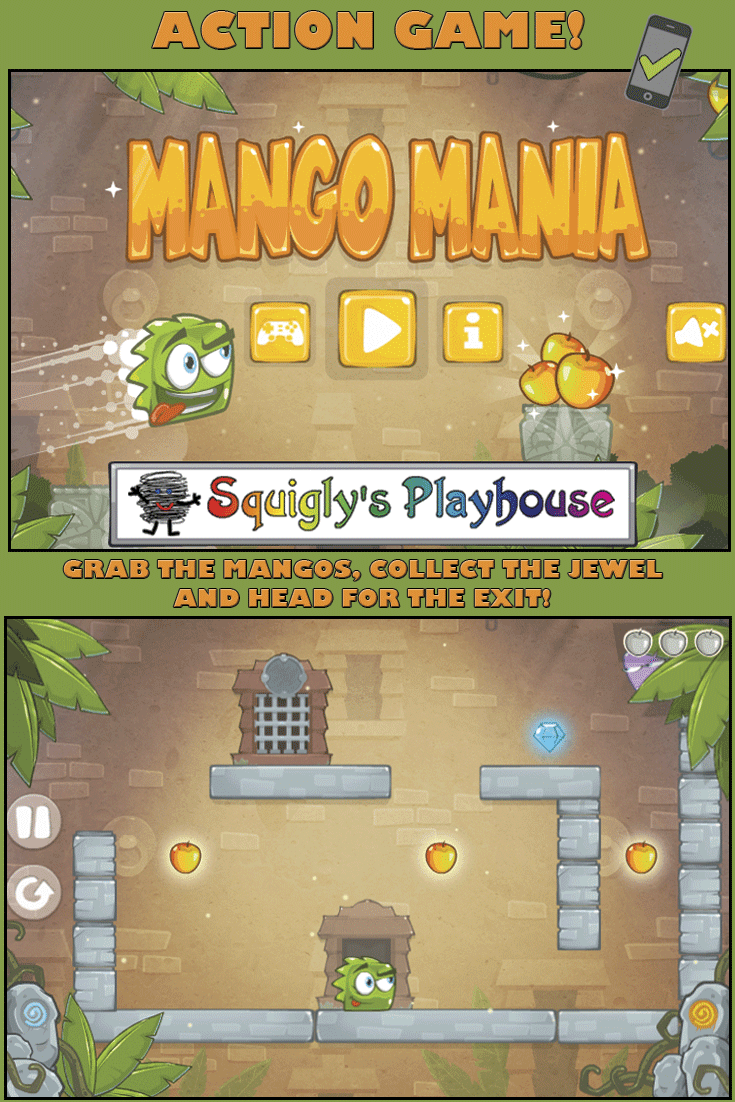 Collect the mangos, grab the jewel and head for the exit in this action packed game! Play this game on your mobile device or on your desktop! Addicting game play!