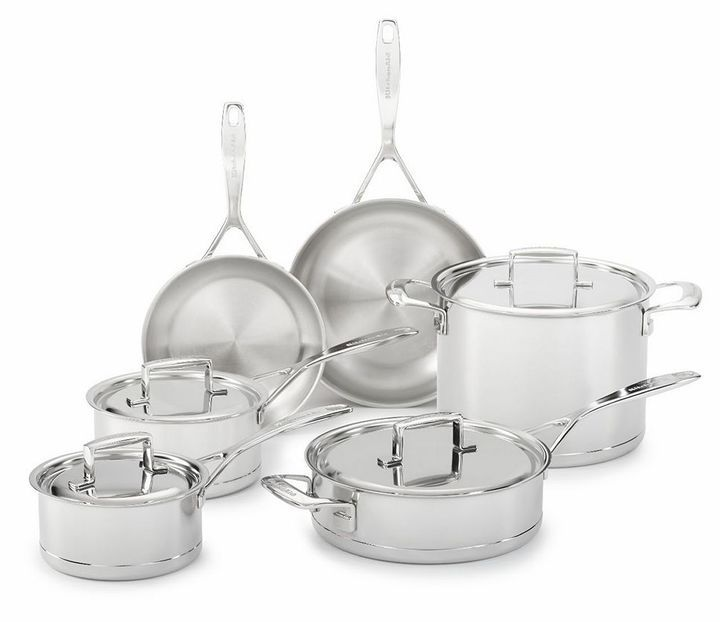 Kitchenaid kcc7s10st 10pc copper clad stainless steel