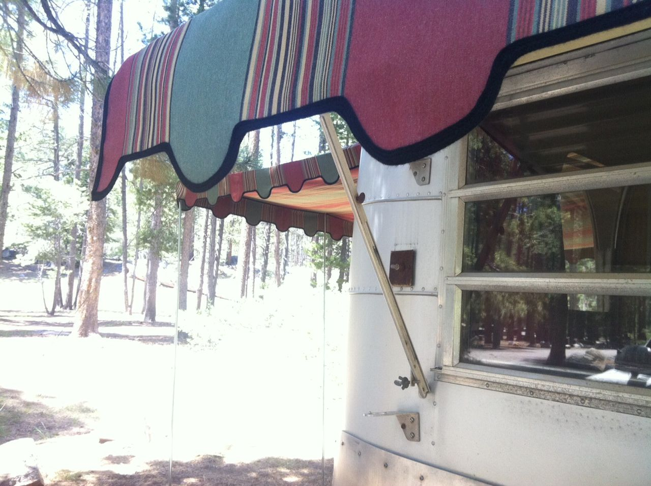 1965 Avion Trailer And My Homemade Awnings Vintage Camper Retro Trailers Trailer Awning