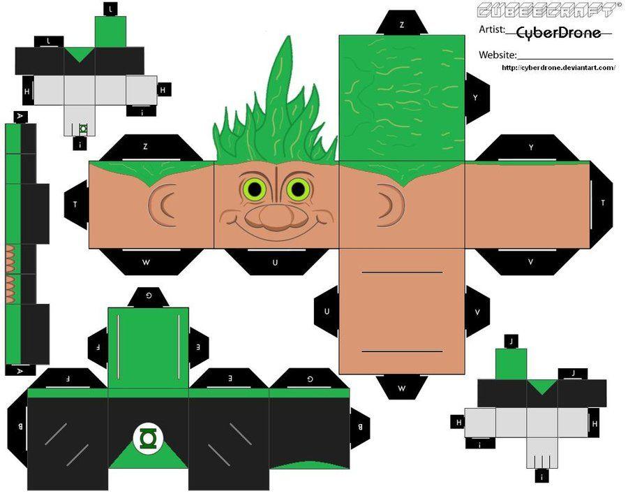Cubee - Troll Green Lantern by CyberDrone.deviantart.com on @DeviantArt