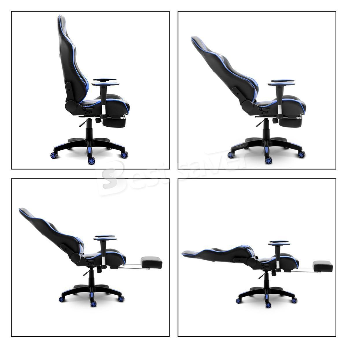 Remarkable Neader Executive Racing Gaming Chair High Back W Footrest Gmtry Best Dining Table And Chair Ideas Images Gmtryco