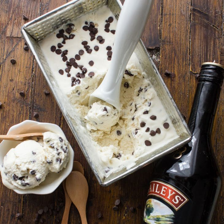 Baileys Chocolate Chip No Churn Ice Cream Recipe Desserts With Cream Sweetened Condensed Milk C Baileys Ice Cream No Churn Ice Cream Baileys Ice Cream Recipe