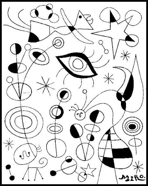 Arte para niños: Obras famosas de Joan Miró para pintar o colorear ...