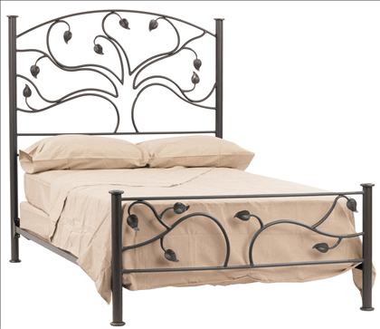 Tree of Life Iron bed frame, Wrought iron beds, Wrought