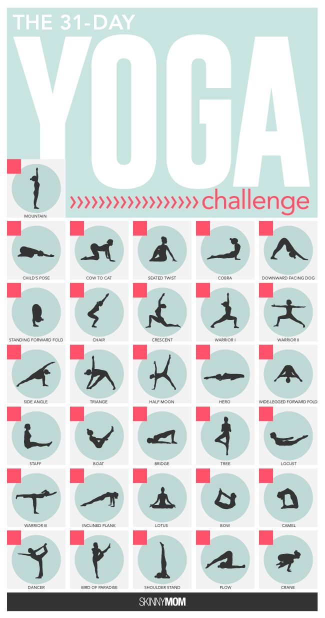 Push Yourself 9 Skinny Mom Challenges To Conquer 30 Day Yoga