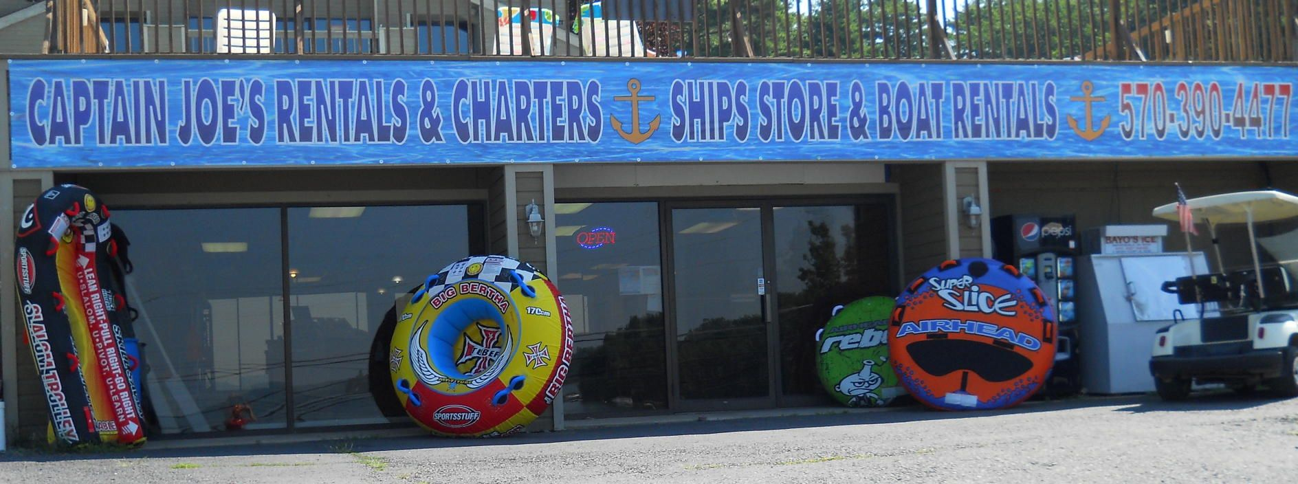 Captain joes sales service inc rentals charters