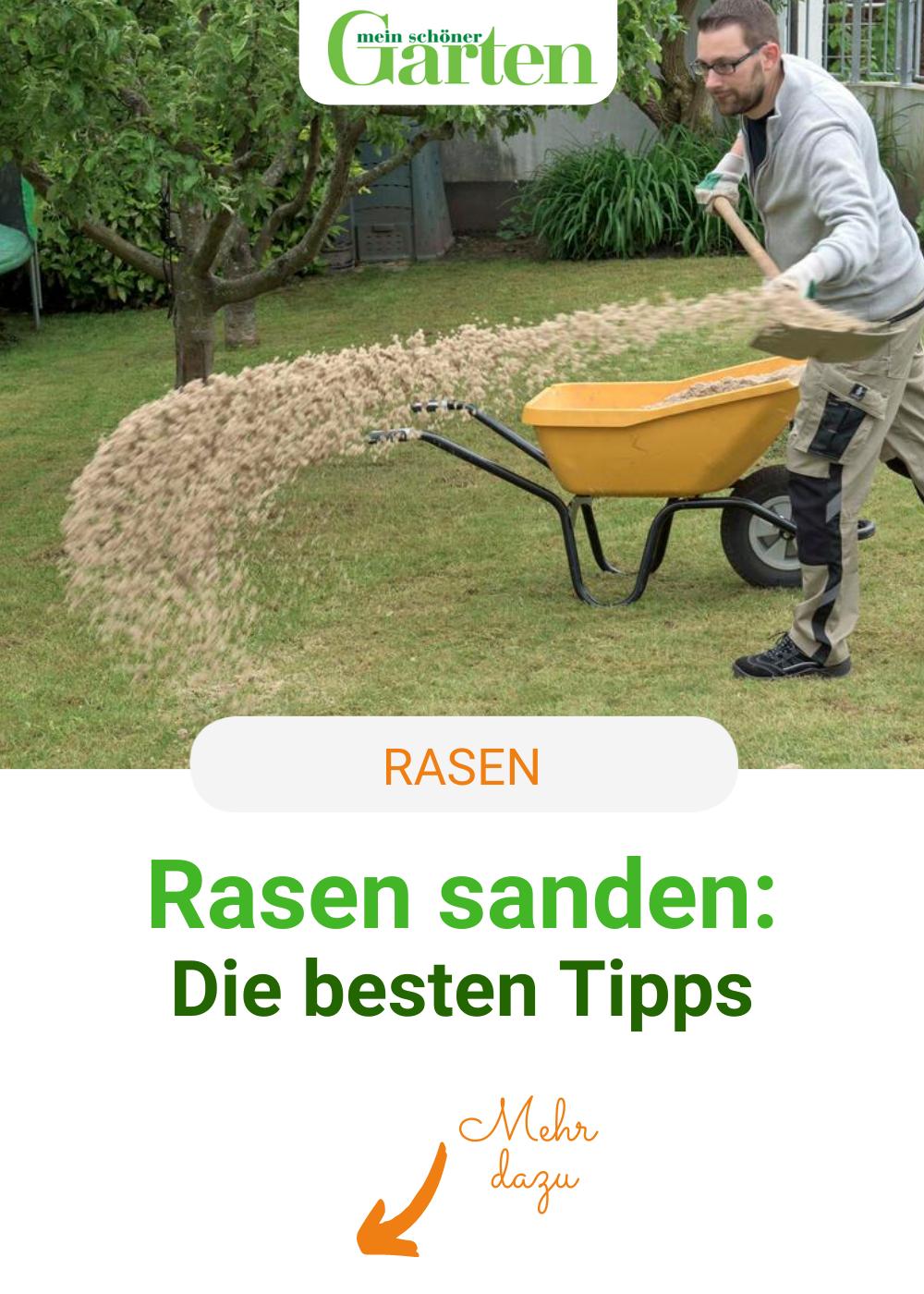 Rasen Sanden Geheimtipp Bei Lehmigen Boden Garten Rasen Rasenboden