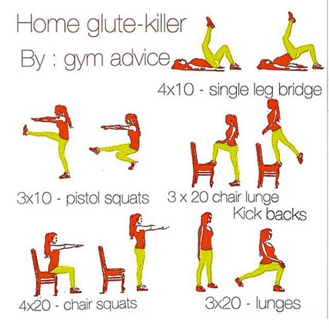 """""""home quad killer routine powered by gym advice tag"""