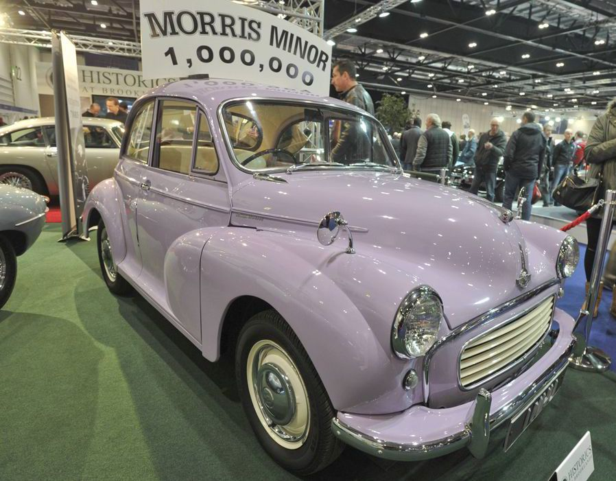 London Classic Car Show Morris Minor Cars And Scooters