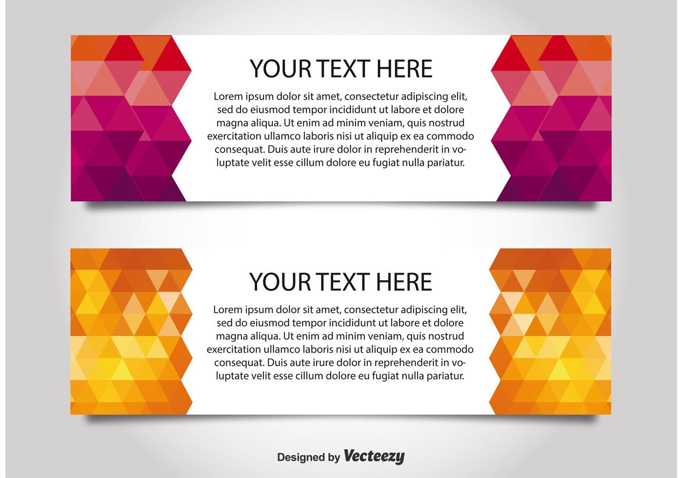 Modern Style Web Banner Templates Download Free Vectors Inside Free Website Banner Templates Download Free Banner Templates Banner Template Website Banner