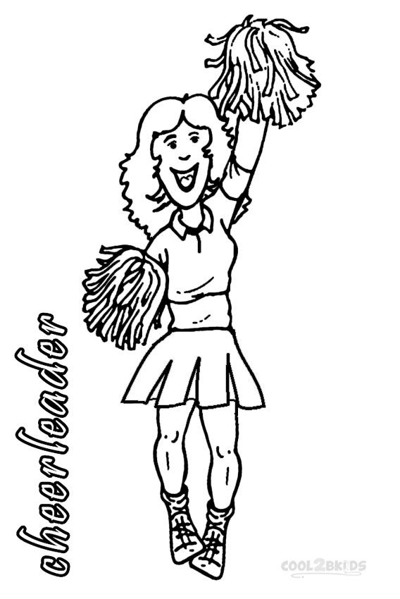 Printable Cheerleading Coloring Pages For Kids | Cool2bKids | Sports ...