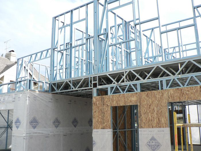 Light Steel Frame House Or Building Has Making High