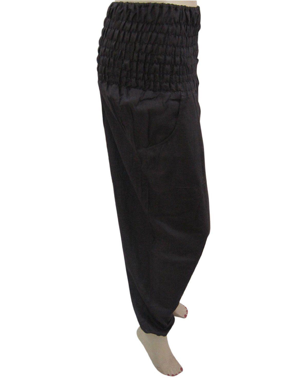 Boho hippie trousers black yoga capri pant