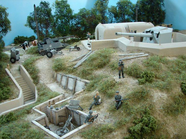 Maquette de bunker    Tourelle pour 15 cm   Models & Dioramas