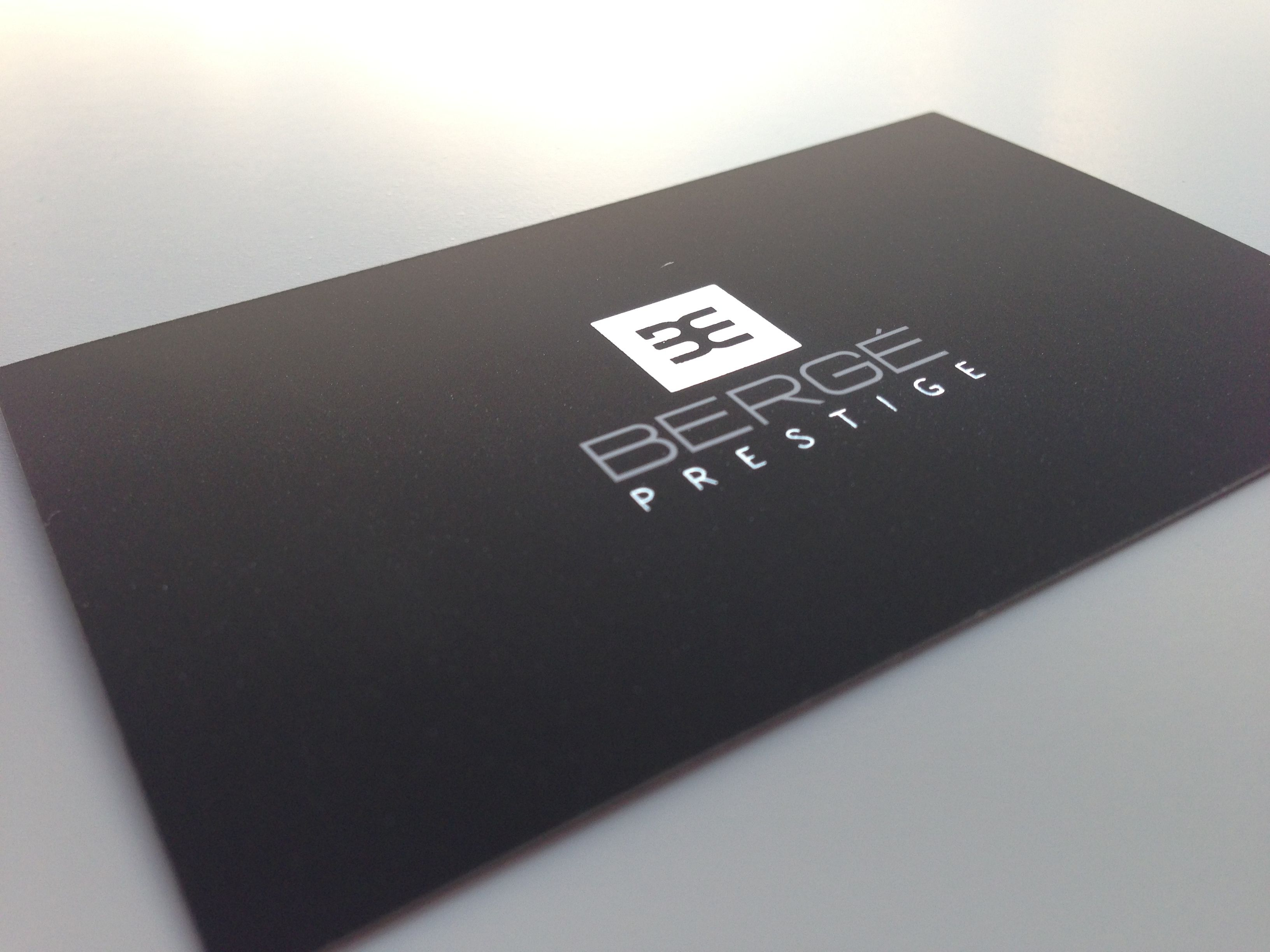 bergé interior business card zilver veredeld