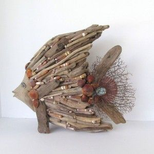 DIY Driftwood fish