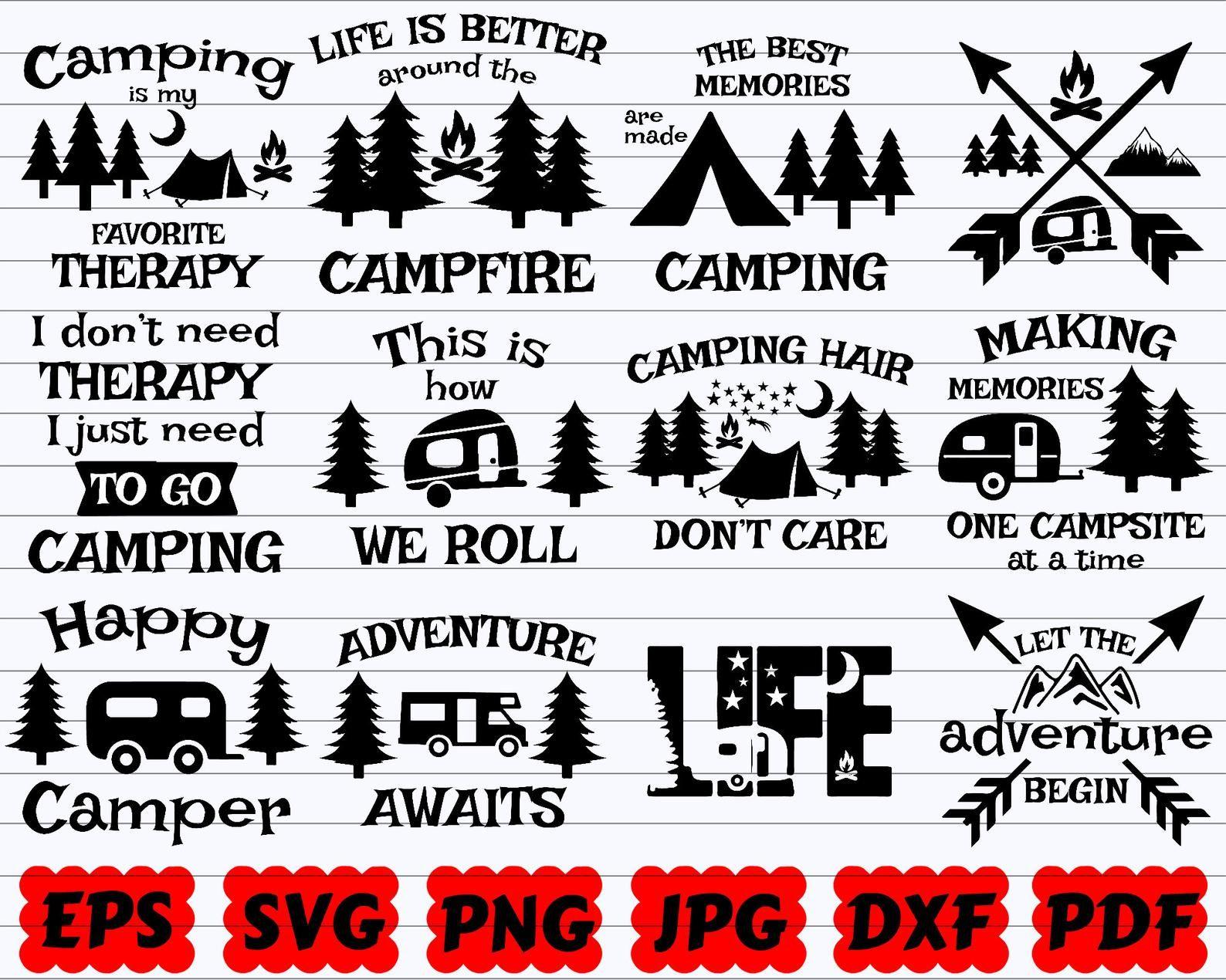 Camping Svg Camp Life Svg Happy Camper Svg Adventure Svg Travel Svg Funny Camping Svg Camping Quote Svg Camper Svg Camping SVG Bundle