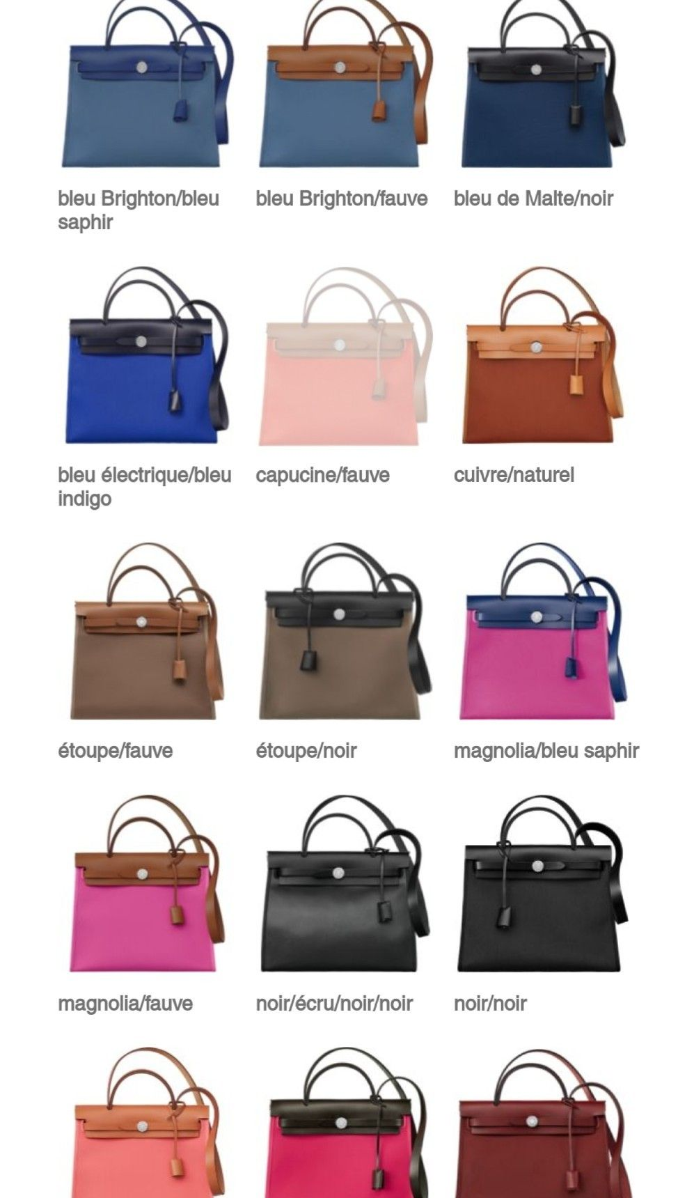 ad5f7c3bd72 Hermes Herbag zig collection