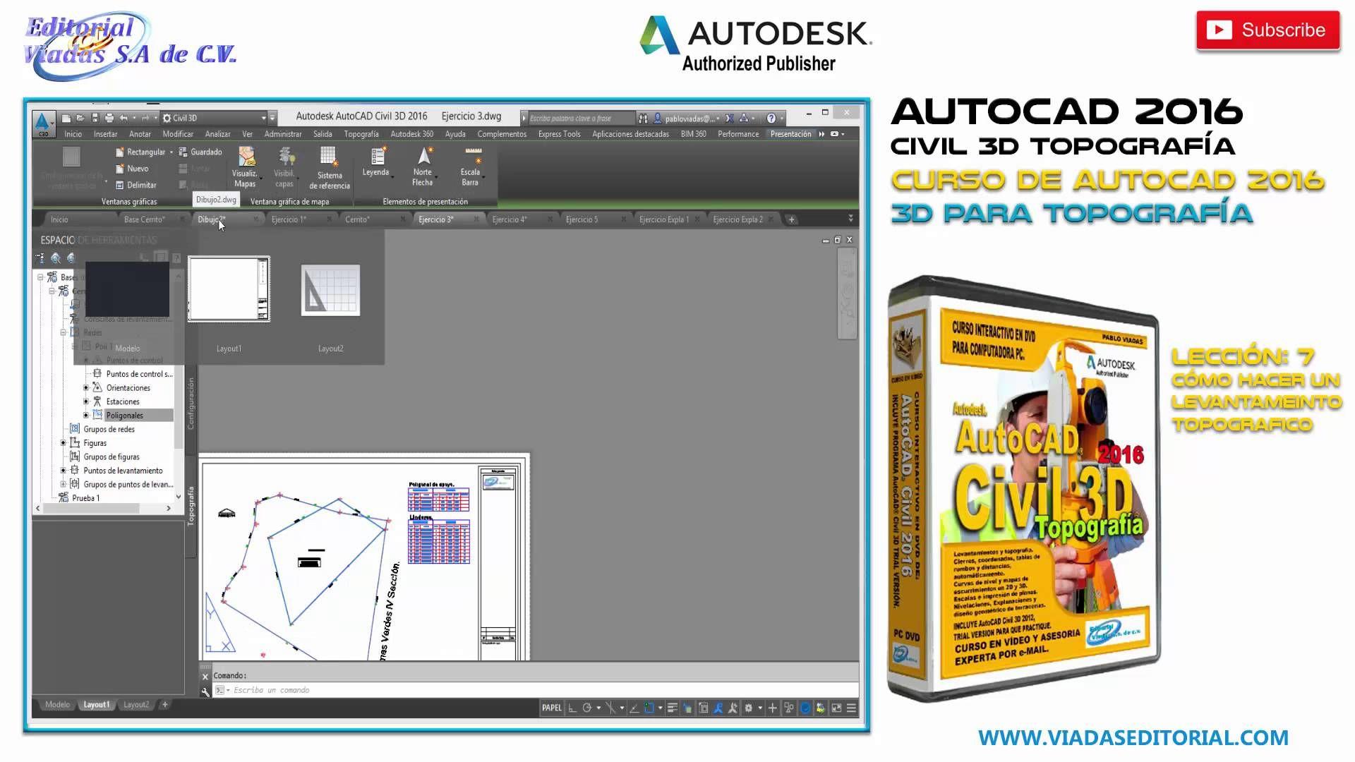 Autocad Civil 3d 2016 Curso Completo Tutorial Topografía Lección 7 Autocad Topografía Cursillo
