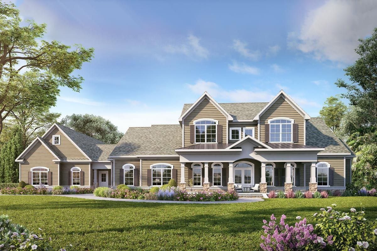 Plan 360053DK Traditional TwoStory House Plan with Split