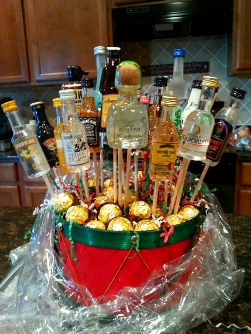 Gift Basket Ideas | Alcohol gift baskets, Liquor gifts ...