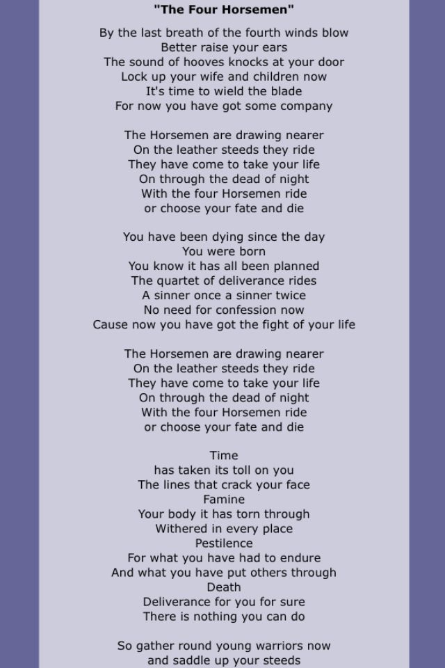 Metallica Metallica Lyrics Great Song Lyrics Rock Songs