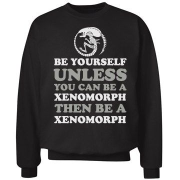 be you or be alien are you ready for the new alien movie wear this trendy shirt to show your xenomorph support