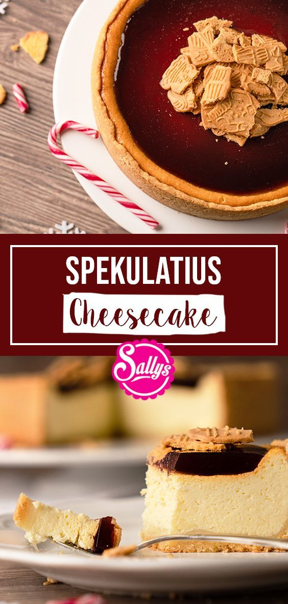 SPECULATIUS CHEESECAKE WITH GLOW-WINE OPPING / SALLYS WORLD -  This Christmas Cheesecake not only l