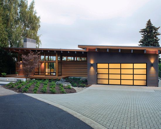 Exterior Design, Appealing Rustic Exterior With Modern Attached Garage  Plans Also Gray Bricks Ground Material. Vancouver WashingtonWashington ...