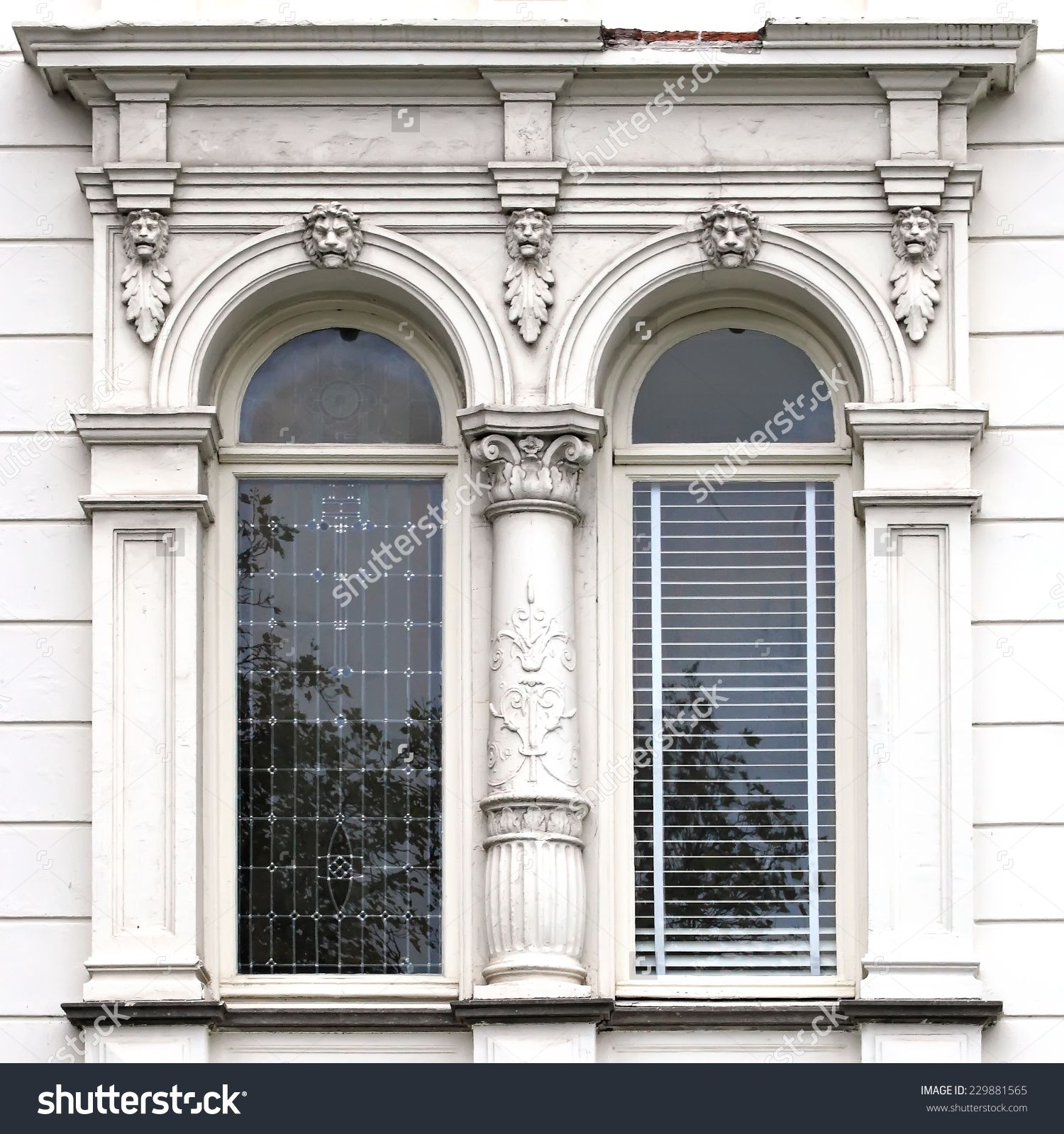 Architecture And Windows Of Ancient Renaissance Style