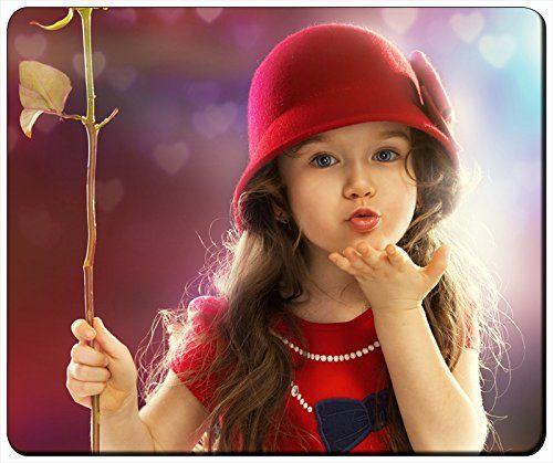 "Cute Red Dress Little Girl Child Sweet Kiss Customizable Gaming Mouse Pad 240x200x3mm(9.45""x7.87""x0.12"") by iCustom&Shop Mouse Pads http://www.amazon.com/dp/B017I4YB32/ref=cm_sw_r_pi_dp_X-gowb1W2Q6VJ"