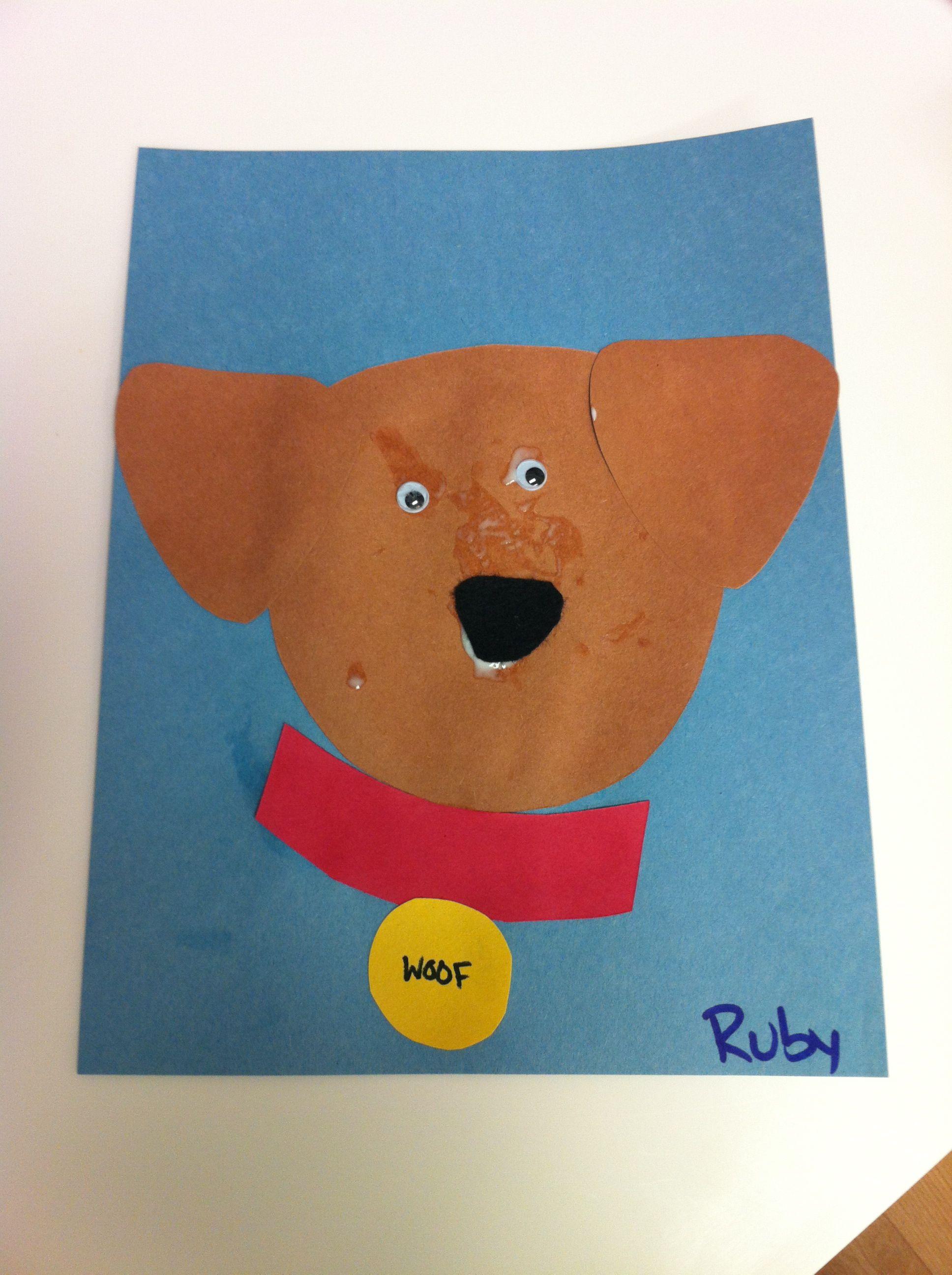 preschool dog craft arts and crafts pinterest dog craft and